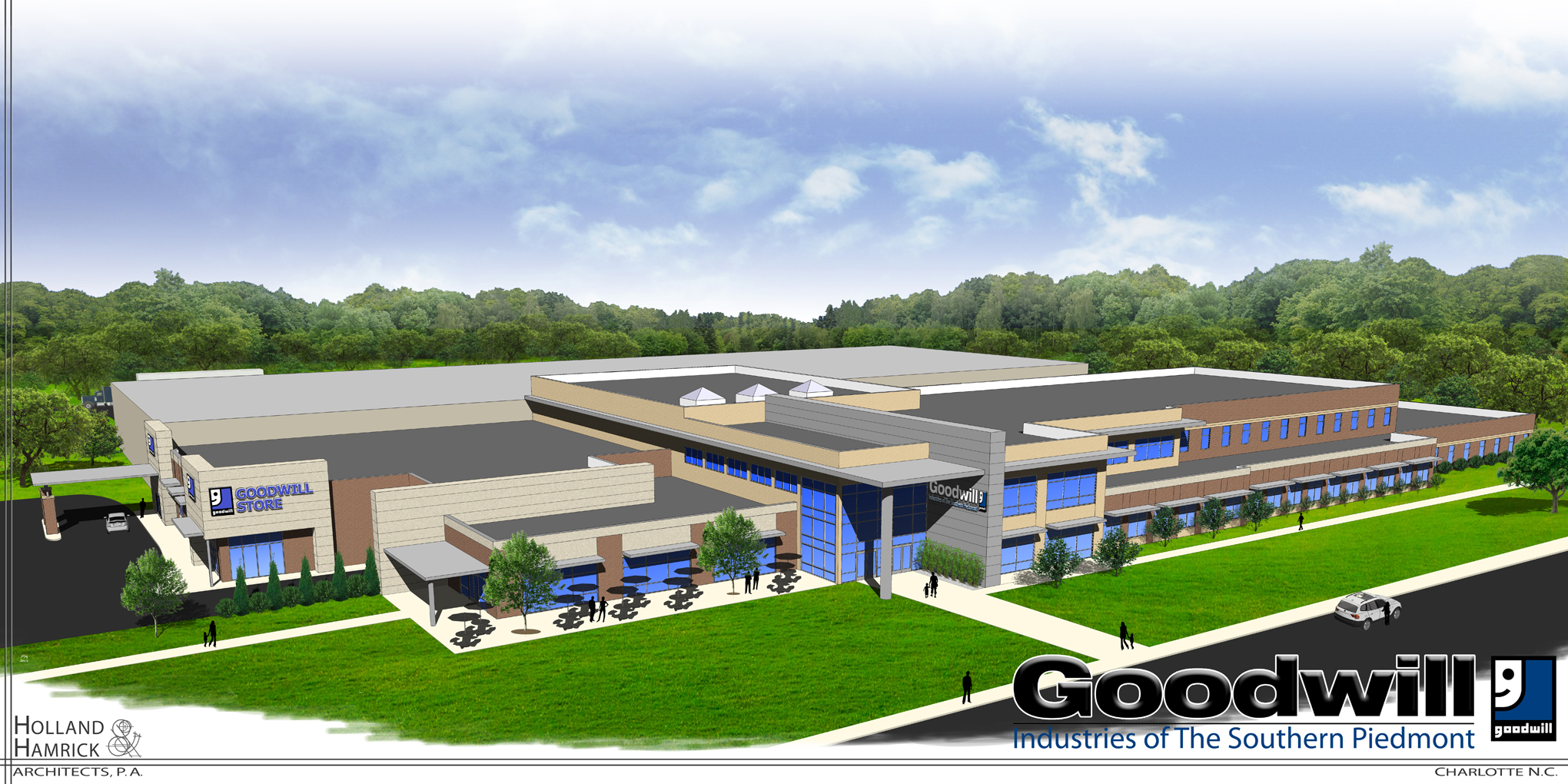 rendering of Goodwill Campus on Wilkinson Blvd, Charlotte, NC